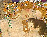 Gustav Klimt Three Ages of Woman - Mother and Child (Detail) painting