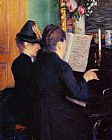 piano night Paintings - The Piano Lesson