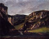 Gustave Courbet Cliffs near Ornans painting