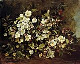 Gustave Courbet Flowering Apple Tree Branch painting
