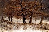 Gustave Courbet Landscape with snow painting