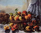 Gustave Courbet Still Life Fruit painting