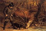 Gustave Courbet The hunt painting