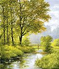 Heinz Scholnhammer Dreamy Creek II painting