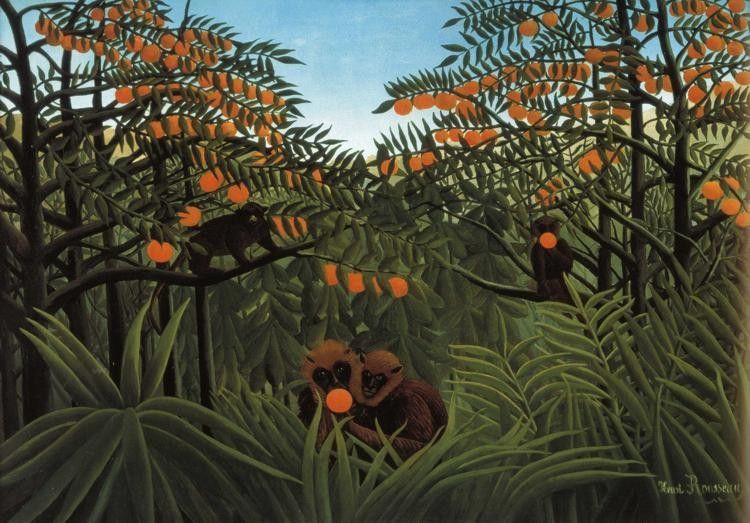 Henri Rousseau Monkeys in the Jungle