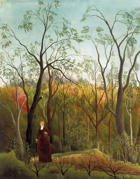 Henri Rousseau Promenade in the Forest