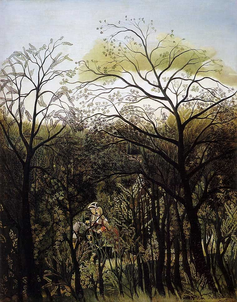 Henri Rousseau Rendezvous in the Forest