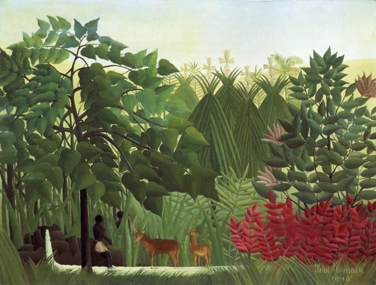 Henri Rousseau The Waterfall