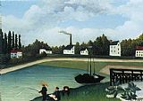 Henri Rousseau Family Fishing painting