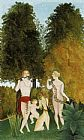 Henri Rousseau Happy Quartet painting