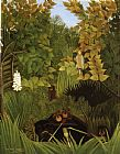 Henri Rousseau Merry Jesters painting