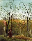 Henri Rousseau Promenade in the Forest painting