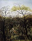Henri Rousseau Rendezvous in the Forest painting
