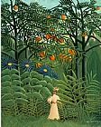 Henri Rousseau Woman Walking in an Exotic Forest painting