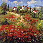 Floral paintings - Country Village II by Hulsey