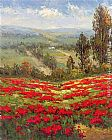 Hulsey Poppy Vista II painting