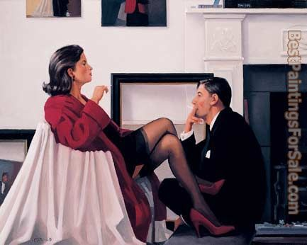 Jack Vettriano Models in the Studio