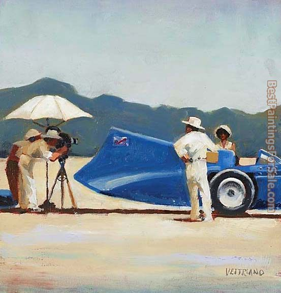 Jack Vettriano Study for Bluebird at Bonneville