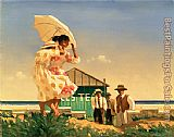 Jack Vettriano A Very Dangerous Beach painting