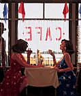 Jack Vettriano Cafe Days painting