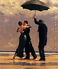 Jack Vettriano Dancer In Emerald painting