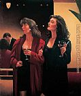 Jack Vettriano Girls' Night painting