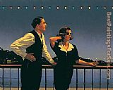 Jack Vettriano Midnight Blue painting