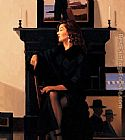 Jack Vettriano Model in Black painting