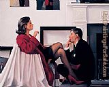 Jack Vettriano Models in the Studio painting