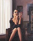 Jack Vettriano Only the deepest Red I painting