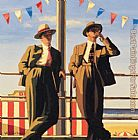 Jack Vettriano Seaside Sharks painting