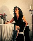 Jack Vettriano Table for One painting