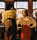 Jack Vettriano The Barmaid's Fancy painting