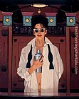 Jack Vettriano The Cocktail Shaker painting
