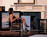 Jack Vettriano The Model and the Drifter painting