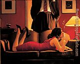 Jack Vettriano The Parlour of Temptation painting