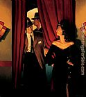 Jack Vettriano The Purple Cat painting