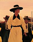 Jack Vettriano Woman Pursued painting