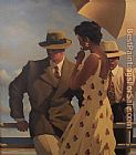Jack Vettriano in the heat of the day painting