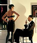 Jack Vettriano night in the City painting