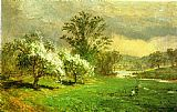 Jasper Francis Cropsey Apple Blossom Time painting
