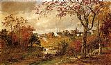 Jasper Francis Cropsey Autumn Landscape - Saugerties, New York painting