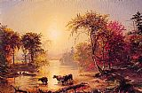 Jasper Francis Cropsey Autumn in America painting