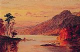 Jasper Francis Cropsey Lake Scene, Catskill Mountains painting