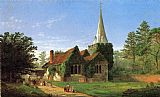 Jasper Francis Cropsey The Church at Stoke Poges painting