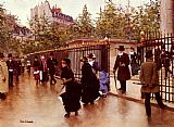 Jean Beraud Leaving La Madeleine Paris painting