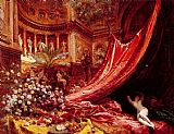 Jean Beraud Symphony in Red and Gold painting