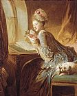 Jean Fragonard The Love Letter painting