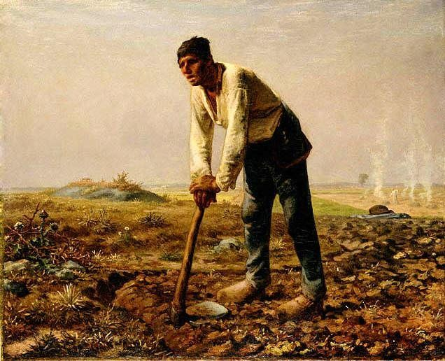 Jean Francois Millet Man with a hoe