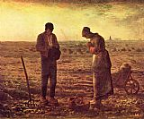 jean francois millet Paintings - Angelus